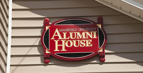 Alumni House Sign